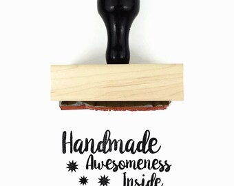 Handmade Awesomeness Inside Rubber Stamp - For the Maker Stamp