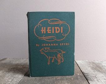 Vintage 1944 Heidi Book by Johanna Spyri