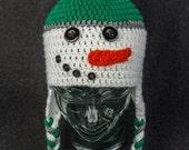 Hand Crochet Snowman Hat:...
