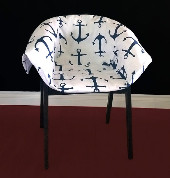 IKEA ESBJ RN Chair Slipcover Navy Anchor Ready To Ship