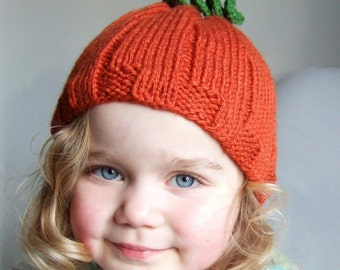 Pumpkin Hat Toddler Size - Ready to Ship