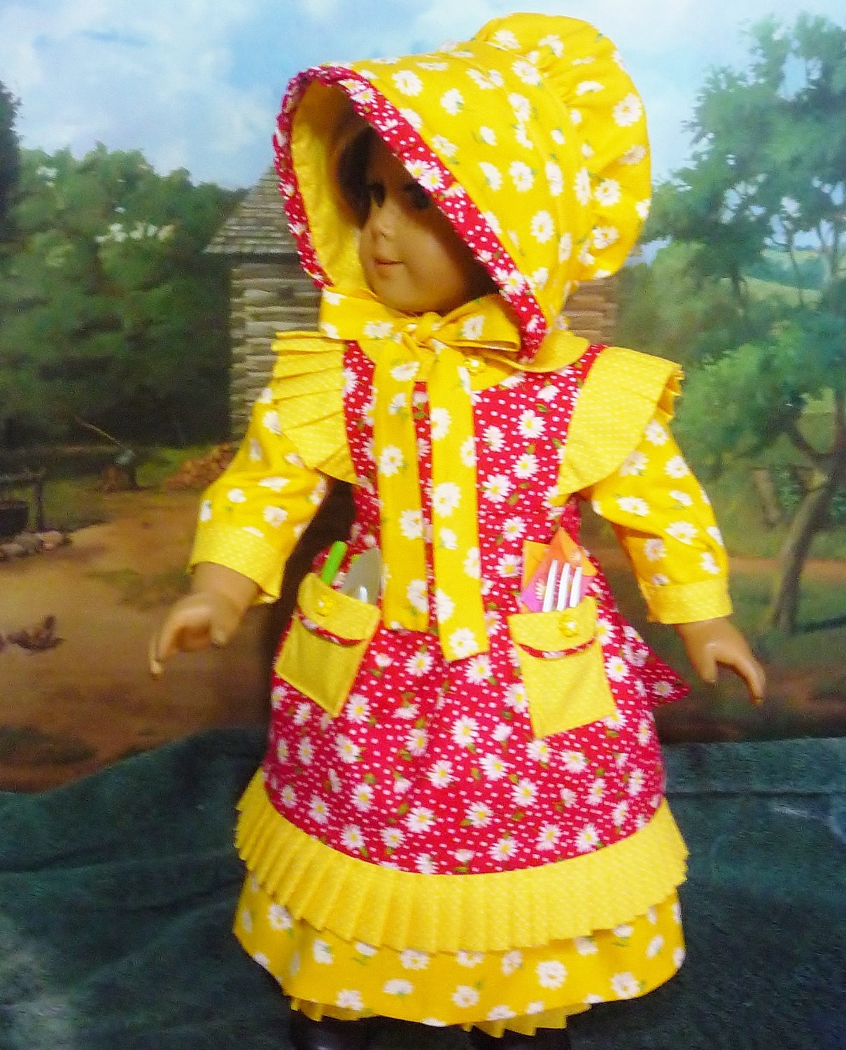 Mary Mary Quite Contrary Costume Fits American Girl Doll