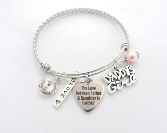 Father Daughter Gift, Father Daughter Bracelet, Gift from Dad, Daddy Daughter Dance, Gift for Daddy Girl, Wedding gift from Dad to Daughter