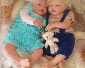 TWINS From the Londyn Kit  Reborn Baby Doll 20 inch Twins Baby Boy and Girl Riley and Rayland