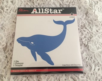 Ellison Allstar Whale Die - Makes Large Die Cuts - Ocean Theme Decor - Rollmodel Die - NEW