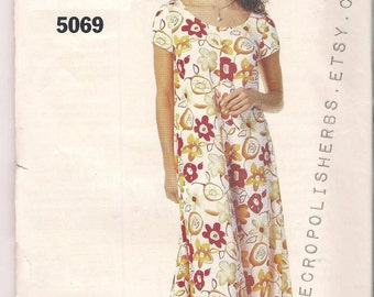 PIF VINTAGE Rare Dress Pattern 5069 by See & Sew Year 1997 - Very Easy - SZ A - 6-8-10  - Mod Lds Sister Missionary Style