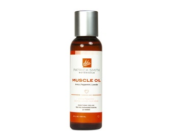 Muscle Oil - 2 oz. Organic Ingredients. Certified Cruelty-Free by Leaping Bunny.
