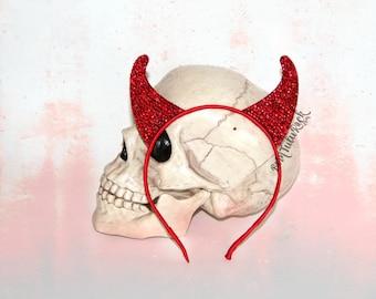 Devil Horns // Rhinestone Devil Horns // Bling Devil Horns // by Born Tutu Rock
