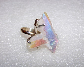 12gram Opal Aura Quartz From Arkansas Handmade 925 Solid Sterling Silver Ring Size 6 With Free Shipping And 10% Off At Checkout