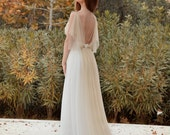Wedding Dress Long Fairy Wedding Gown Romantic Wedding Dress Gold Wedding Gown Long Grecian Wedding Dress - Handmade by SuzannaM Designs