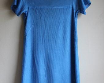 Sporty 1960s Rib Knit Shift Dress