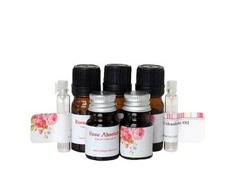 Bulgarian rose absolute oil, Rose Kazanlak absolute essential oil, Rose precious oil, Rose flower essence oil, Rosa Damascena absolute oil