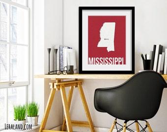 I love Jackson, Mississippi, MS, 11x14 or 8x10, customizable city, I heart pop art poster, digital art print, modern home decor state art