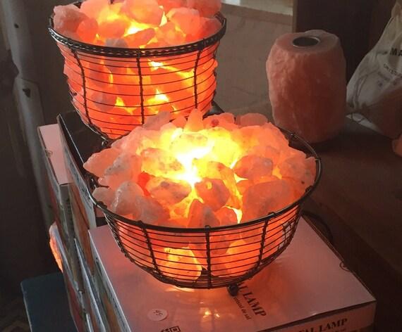 Salt Lamps Emf Protection : SALT LAMP BASKET Himalayan Sea Salt Basket Lamp Naturally