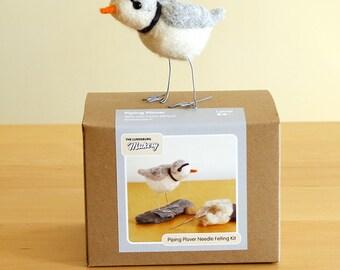 DIY Needle Felting Piping Plover Bird Craft Kit