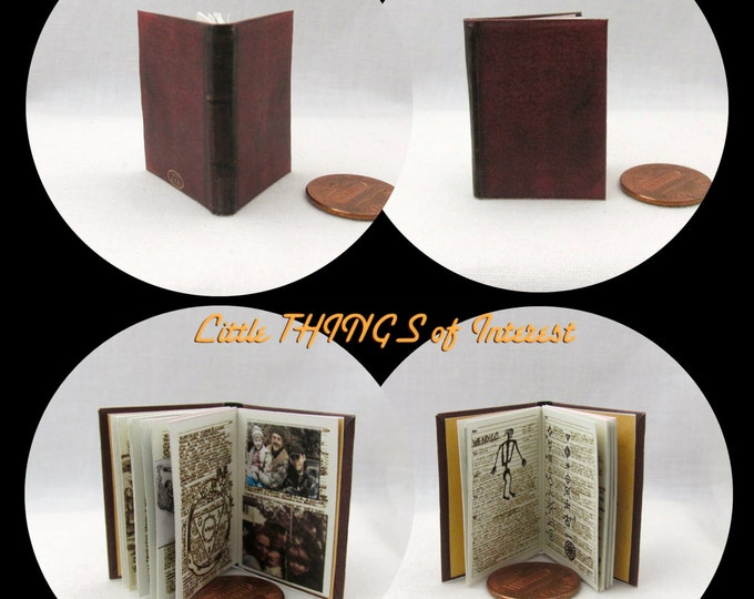 JOHN WINCHESTER'S JOURNAL Replica Miniature Book Readable Illustrated Book 1:6 Scale Play Scale