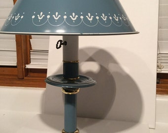 Vintage Blue Tole Lamp