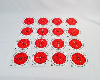16 Vintage Game Spinners, 0-9, Game Making Supplies, Brightly Colored, Multiple Uses, Number spinner,