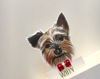 Custom bookmark/ dog bookmark/ penciled drawn/ gift for dog lover/ book accessories/ gift idea/ paper bookmark/ fun reading/ animal lovers