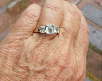 Aquamarine Rings Etsy