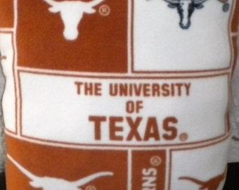 Texas Longhorn Pillow, University of Texas Pillow, Longhorn Pillow, Large Longhorn Pillow