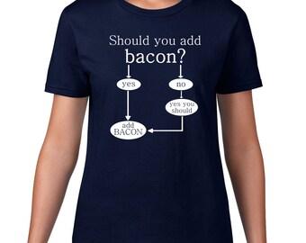 Funny Bacon T Shirt, Funny T Shirt, Bacon Tshirt, Funny Tshirt, Bacon Tee, Funny Tee, Food, Bacon Gift, Ringspun Cotton