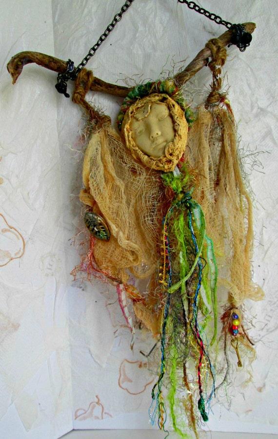 Art Doll Wall Art Ooak Stick Doll Spirit Doll Healing