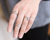 Stacking Rings // Midi Rings // Dainty // Stackable // Set of 4