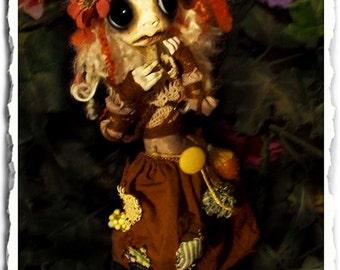 Gothic Art Doll OOAK - Creepy Cute - Fairy Art Doll - Faerie Doll - Fay - Woodland