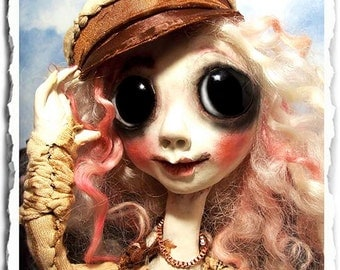 Gothic art Doll OOAK - Creepy Cute Fairy