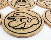 Mario Wood Coasters (Set of 8)