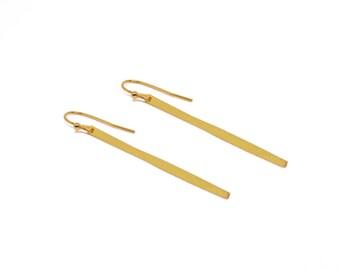 Long Bar Earrings, Long Stick Earrings, Gold Stick Earrings, Dangle Earrings, Minimalist, Wholesale Earrings, Laser Cut, GoldieSupplies
