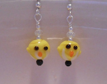 Easter Spring Chick Earrings Item No. 1