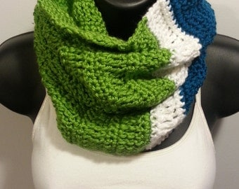 Long Treble Cowl in Three Colors