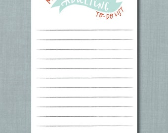 Whimsical Adulting To Do List Notepad // 4.25 x 7  Notepad // 50 Sheets // To Do List