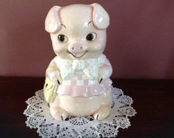 """Vintage Ceramic """"Missy"""" Piggy Bank"""