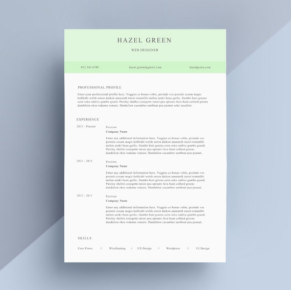Cv Cover Letter Nz: Simple Resume / CV And Cover Letter Template For By