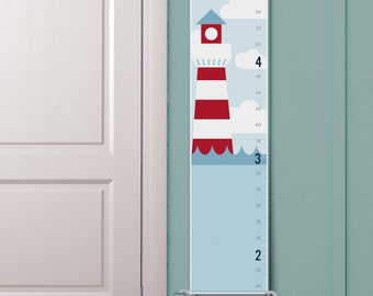 """Personalized """"Lighthouse"""" Nautical Growth Chart"""