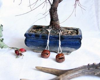 Halloween, scary earrings, scary jewellery, accessories, earrings, hazelnut earrings