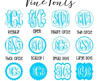 Vine Monogram Decal