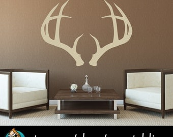 Deer Antlers Wall Decal - Hunting Decal - Hunting Decor