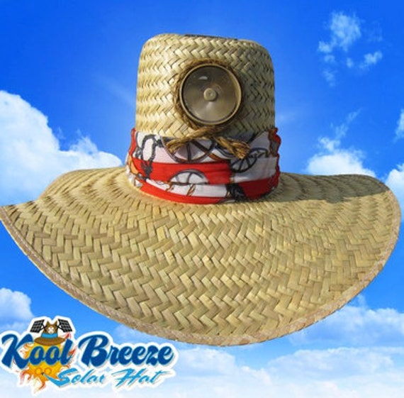 Straw Cooling Solar Sun Hat - Lady's Gardener