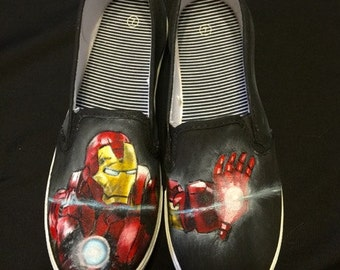 Iron Man Painted Shoes