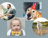 Photo Stickers // Custom Sticker // Thank You Note Sticker // Baby Photo Sticker // Pet Photo Sticker // Wedding Photo Sticker