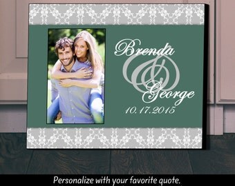 Personalized Picture Frame, Wedding Gift, Anniversary Gift, Gift for Wife, Personalized Frame,