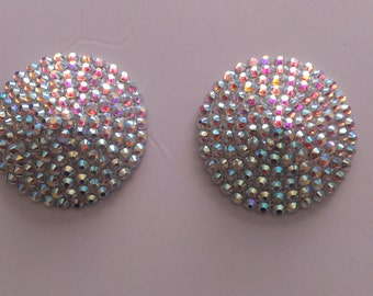Pasties/ Nipple Cover in AB Diamond for Burlesque or Play