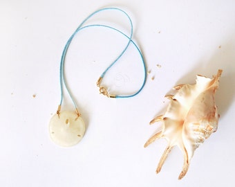 Mermaids coin / Sand dollar necklace