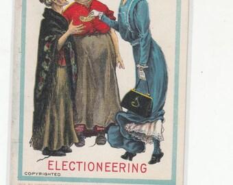 Suffragette Series Women Electioneering Antique Postcard
