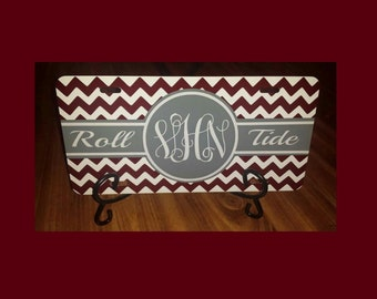Monogrammed Alabama license plate