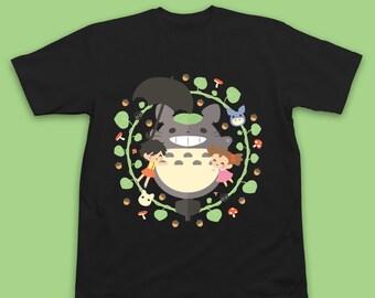 Totoro T-Shirt, Totoro Shirt, Totoro Studio Ghibli Shirt, Studio Ghibli T-Shirt, Studio Ghibli T Shirt, Totoro Gift, Studio Ghibli Gift